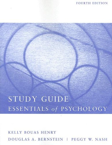 Essentials of Psychology  4th 2008 (Student Manual, Study Guide, etc.) 9780618824311 Front Cover