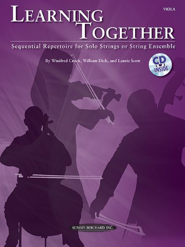 Learning Together Sequential Repertoire for Solo Strings or String Ensemble (Viola), Book and CD N/A edition cover