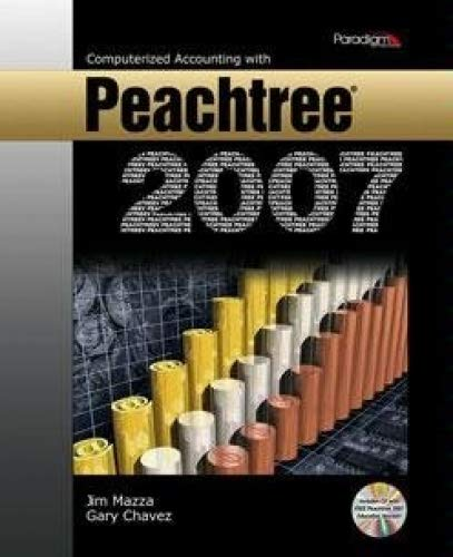 Computerized Accounting with Peachtree 2007   2008 9780763830311 Front Cover