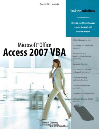 Microsoft Office Access 2007 VBA   2008 9780789737311 Front Cover
