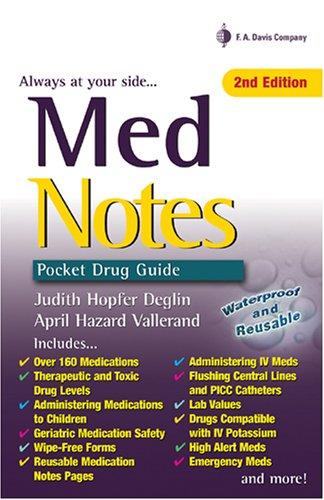 Med Notes Pocket Drug Guide 2nd 2007 (Revised) edition cover