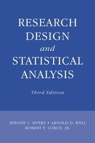 Research Design and Statistical Analysis  3rd 2010 (Revised) edition cover