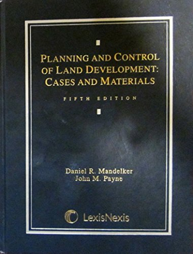 PLANNING+CONTROL OF LAND DEVEL 5th 2001 edition cover