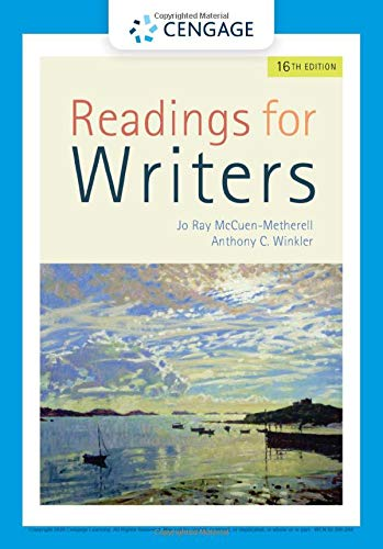 Readings for Writers:   2019 9781337902311 Front Cover