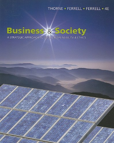 Business and Society A Strategic Approach to Social Responsibility 4th 2011 edition cover