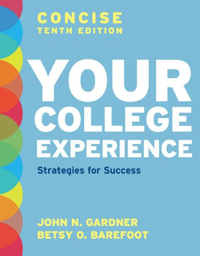 Your College Experience: Strategies for Success 10th 2012 edition cover