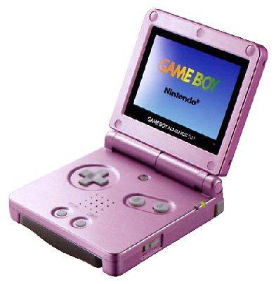 Game Boy Advance SP Konsole pink Game Boy Advance artwork