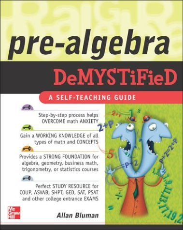 Pre-Algebra Demystified   2004 9780071439312 Front Cover