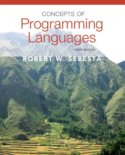Concepts of Programming Languages  10th 2013 (Revised) edition cover