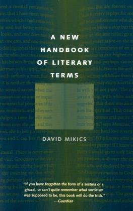 New Handbook of Literary Terms   2010 edition cover