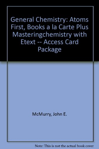General Chemistry Atoms First, Books a la Carte Plus MasteringChemistry with EText -- Access Card Package 2nd 2014 edition cover