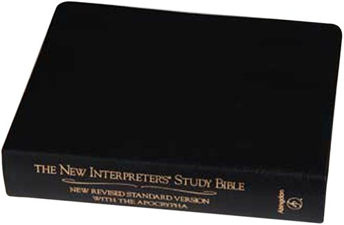 New Interpreter's Study Bible New Revised Standard Version with the Apocrypha  2003 (Revised) edition cover