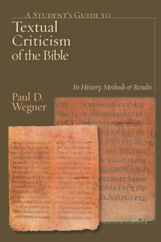 Student's Guide to Textual Criticism of the Bible Its History, Methods and Results  2004 edition cover