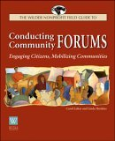 Conducting Community Forums Engaging Citizens, Mobilizing Communities  2003 edition cover