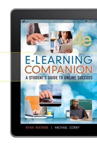 E-Learning Companion Student's Guide to Online Success 4th 2014 edition cover