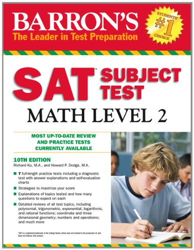 Barron's SAT Subject Test Math Level 2, 10th Edition  10th 2012 (Revised) edition cover