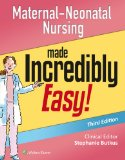 Maternal-Neonatal Nursing Made Incredibly Easy!  3rd 2015 (Revised) edition cover