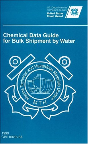 Chemical Data Guide for Bulk Shipment by Water : Sprial-Bound 1st edition cover