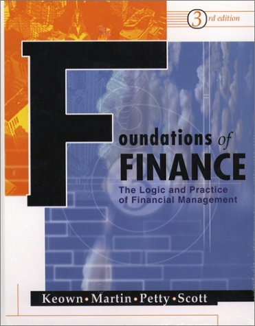 Foundations of Finance  3rd 2001 9780130423313 Front Cover