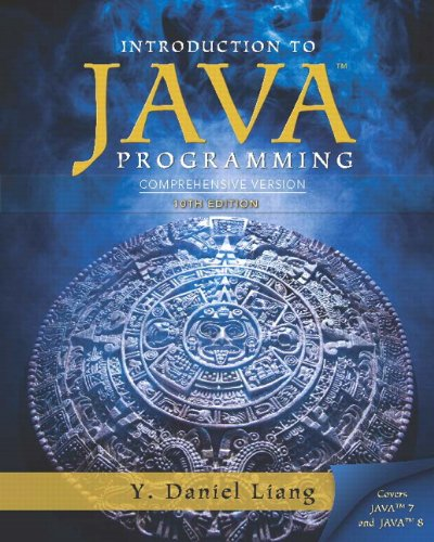 Intro to Java Programming, Comprehensive Version  10th 2015 9780133761313 Front Cover