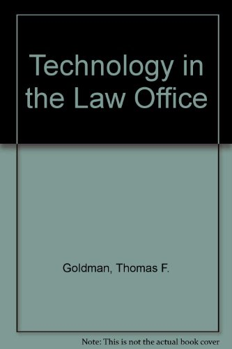 TECH IN LAW OFFICE-PRELIMINARY 1st 9780135134313 Front Cover
