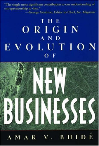 Origin and Evolution of New Businesses   2003 9780195170313 Front Cover