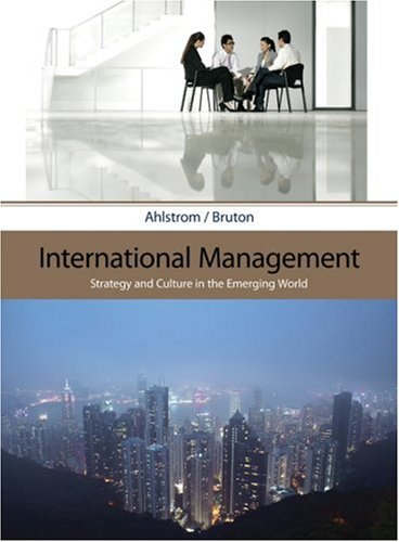 International Management Strategy and Culture in the Emerging World  2010 edition cover