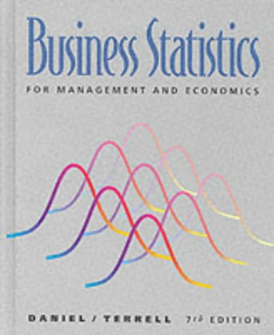 Business Statistics for Management and Economics  7th 1995 edition cover