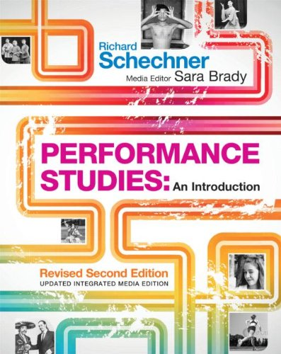 Performance Studies An Introduction 3rd 2013 (Revised) edition cover