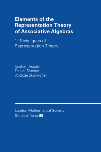 Elements of the Representation Theory of Associative Algebras Techniques of Representation Theory  2005 edition cover