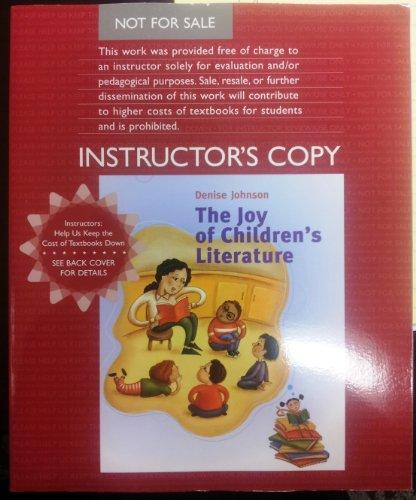 JOY OF CHILDREN'S LITERATURE >EXAM< 1st 9780618833313 Front Cover