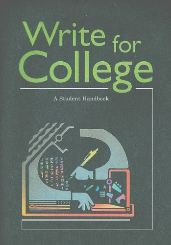Write for College A Student Handbook 2nd 1975 edition cover