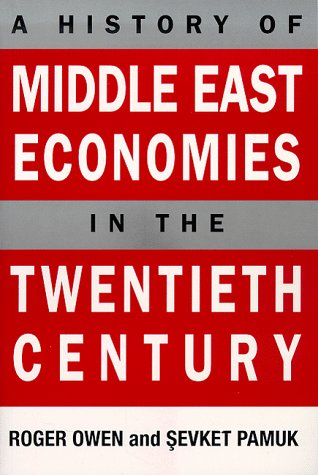 History of Middle East Economies in the Twentieth Century   1998 edition cover