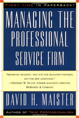 Managing the Professional Service Firm   1997 edition cover