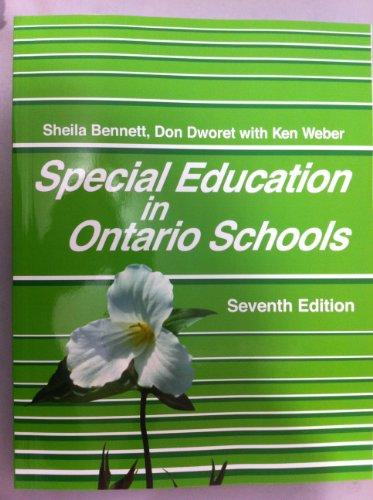 Special Education in Ontario Schools  7th 2013 9780986587313 Front Cover