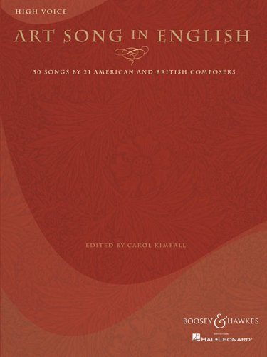 Art Song in English 50 Songs by 21 American and British Composers N/A edition cover
