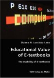 Educational Value of E-Textbooks- the Usability of E-Textbooks N/A 9783836416313 Front Cover