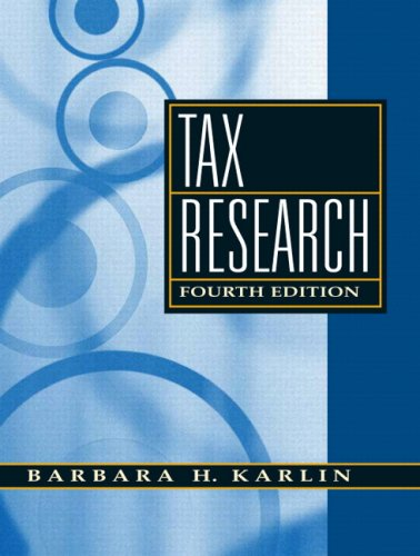 Tax Research  4th 2009 edition cover