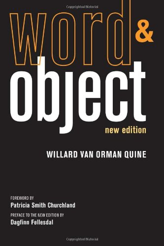 Word and Object   2013 edition cover