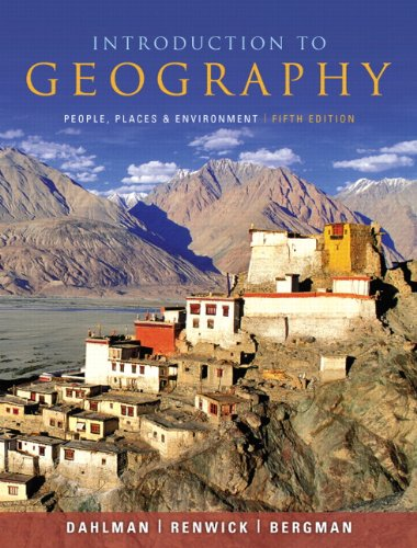 Introduction to Geography People, Places, and Environment 5th 2011 edition cover