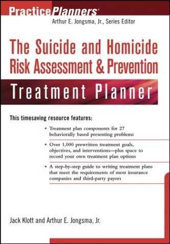 Suicide and Homicide Risk Assessment and Prevention Treatment Planner   2004 9780471466314 Front Cover