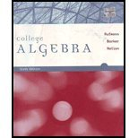 COLLEGE ALGEBRA >CUSTOM< 6th 2008 9780618948314 Front Cover