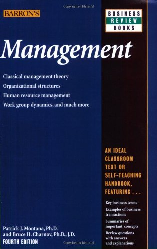 Management  4th 2008 (Revised) edition cover