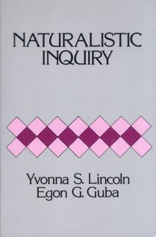 Naturalistic Inquiry   1985 edition cover