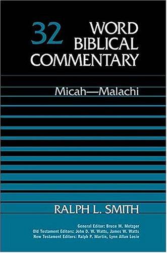 Micah-Malachi   1984 edition cover