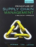 Principles of Supply Chain Management: A Balanced Approach 4th 2015 edition cover