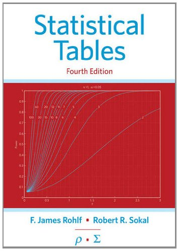 Statistical Tables  4th 2013 (Revised) edition cover
