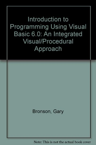 Introduction to Programming Using Visual Basic 6 With Working Model CD-ROM and Disk 2nd 1999 (Revised) edition cover