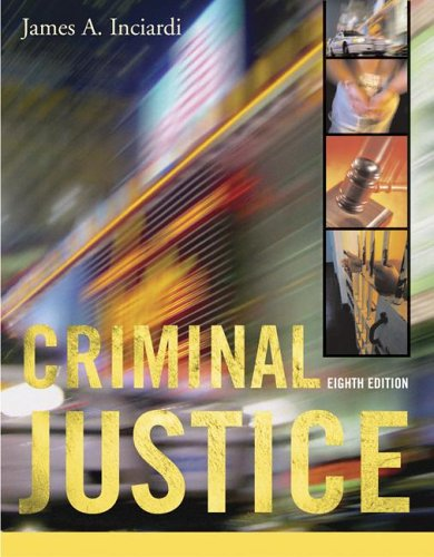 Criminal Justice with PowerWeb 8th 2007 edition cover