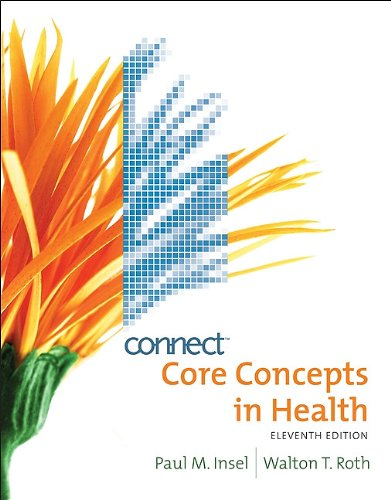 Core Concepts in Health with Connect Plus Personal Health Access Card  11th 2010 edition cover